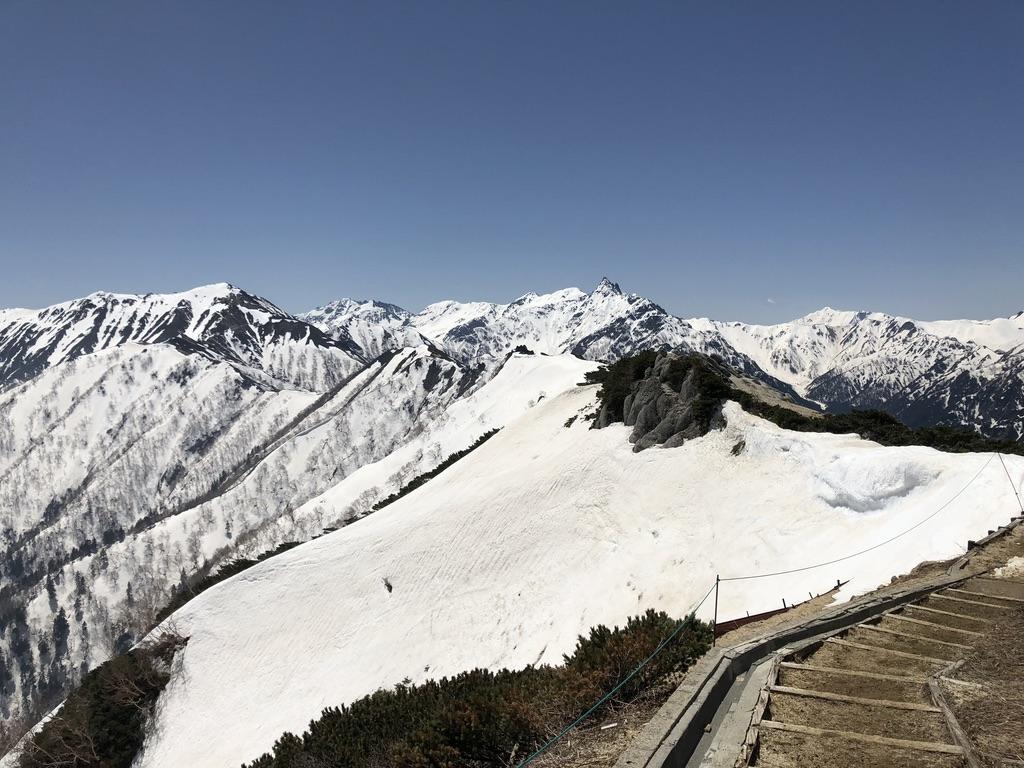 燕岳・燕山荘からの表銀座の山々