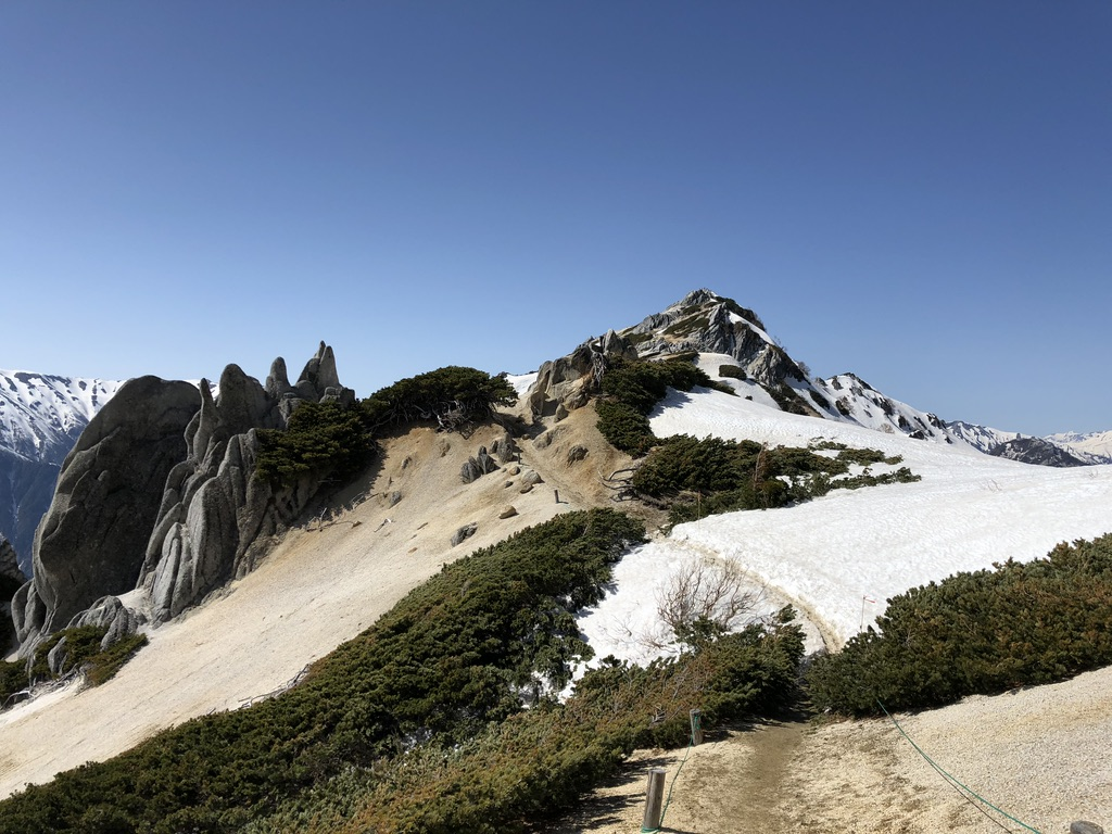 燕岳・燕山荘から燕岳は往復だいたい1時間