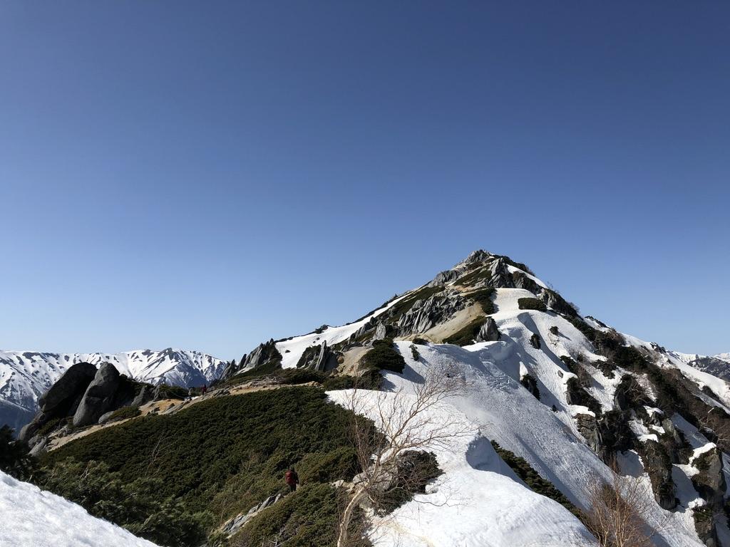 燕岳・にぎやかな稜線から燕岳山頂を目指す