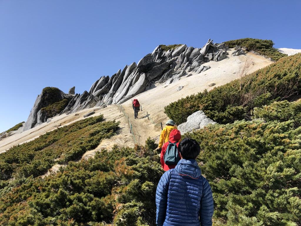 燕岳・砂の道