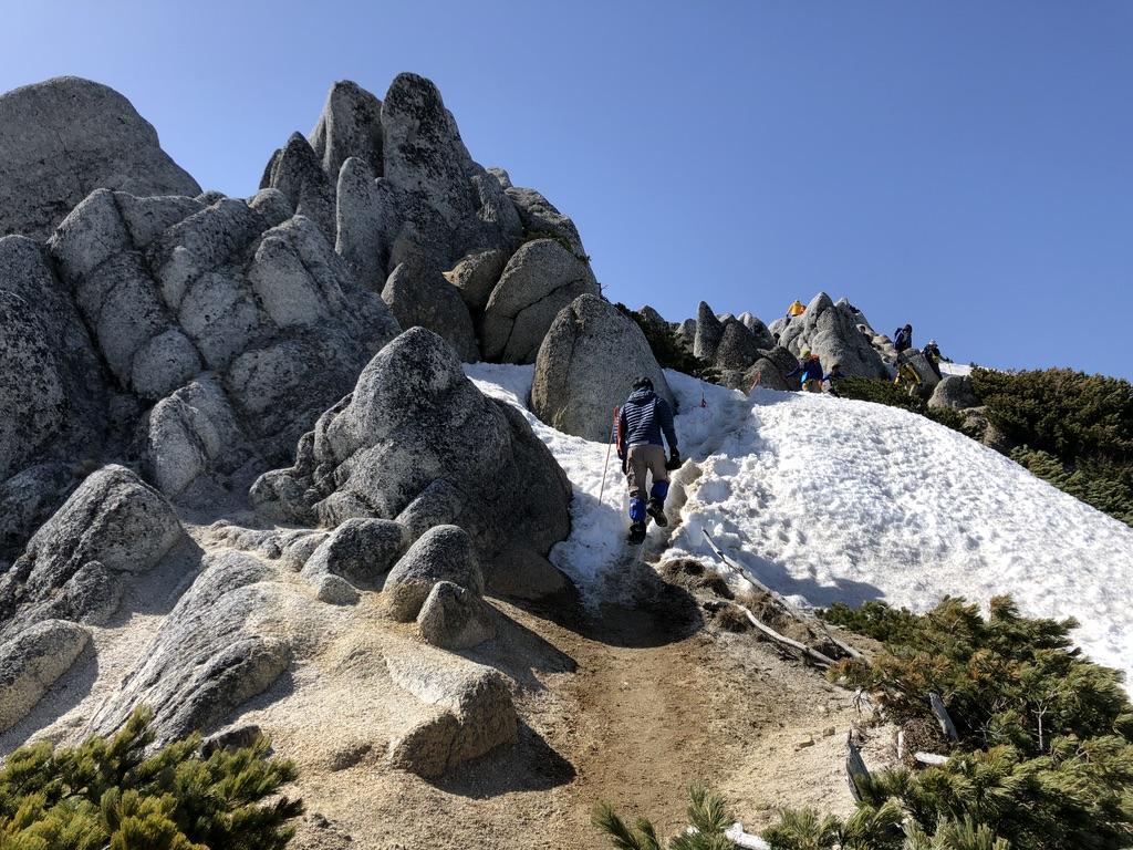 燕岳・あそこに見えるは山頂かしら?
