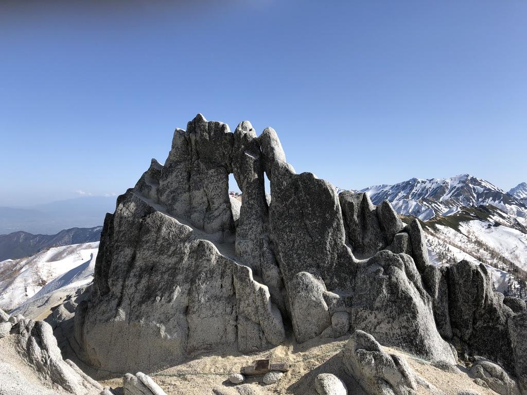 燕岳・メガネ岩