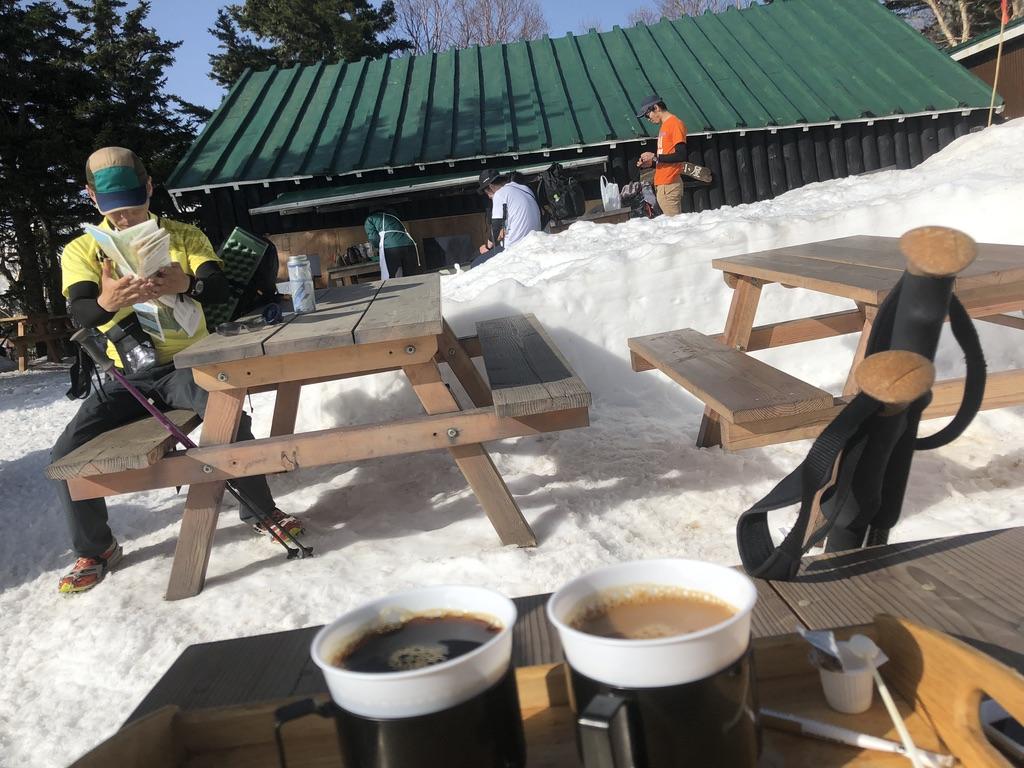 燕岳・合戦小屋・コーヒー