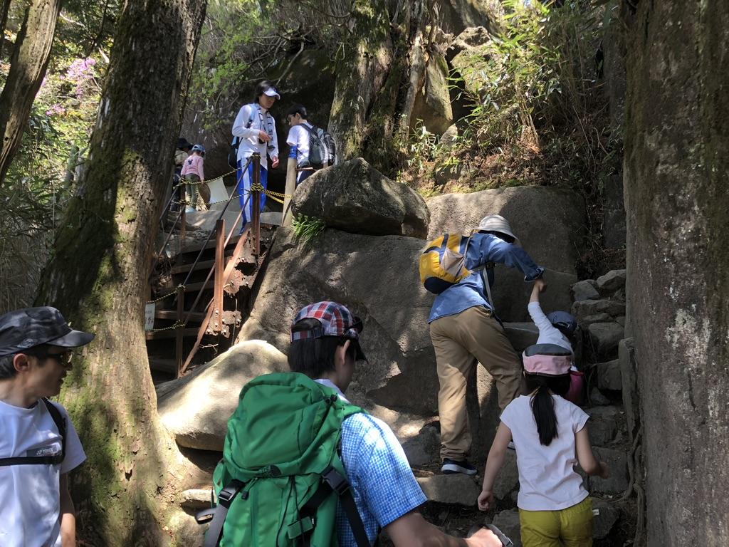 筑波山・白雲橋コース・高天原から胎内くぐりへ