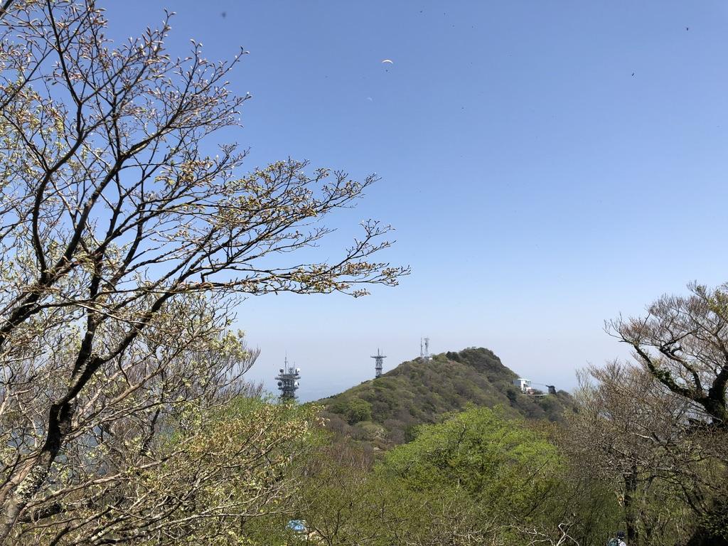 筑波山・男体山・女体山とパラグライダー