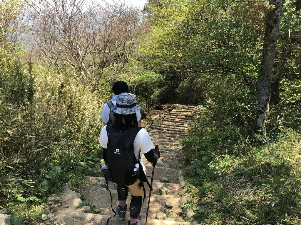 筑波山・御幸ヶ原コース・下山開始