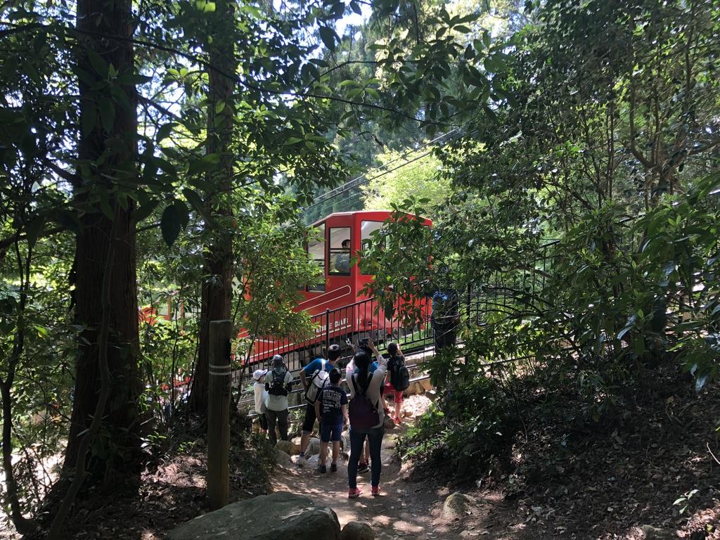 筑波山・御幸ヶ原コース・赤いケーブルカー