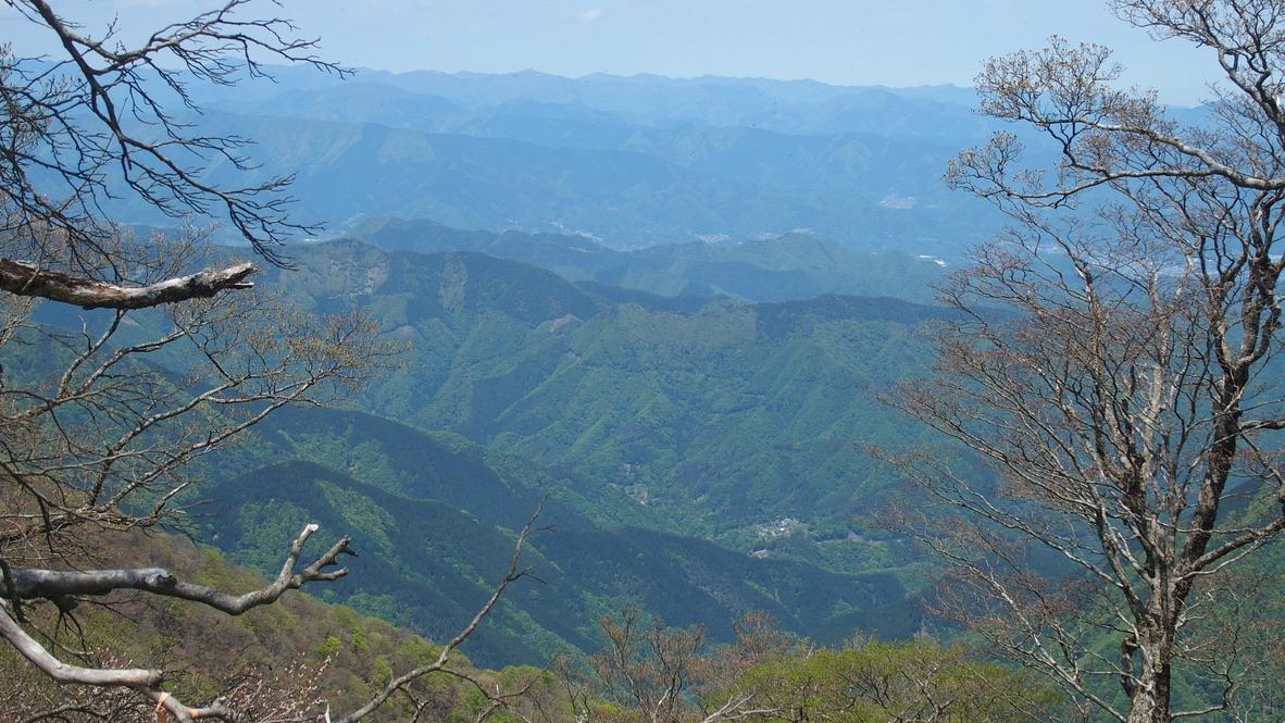 檜洞丸・山頂からの景色
