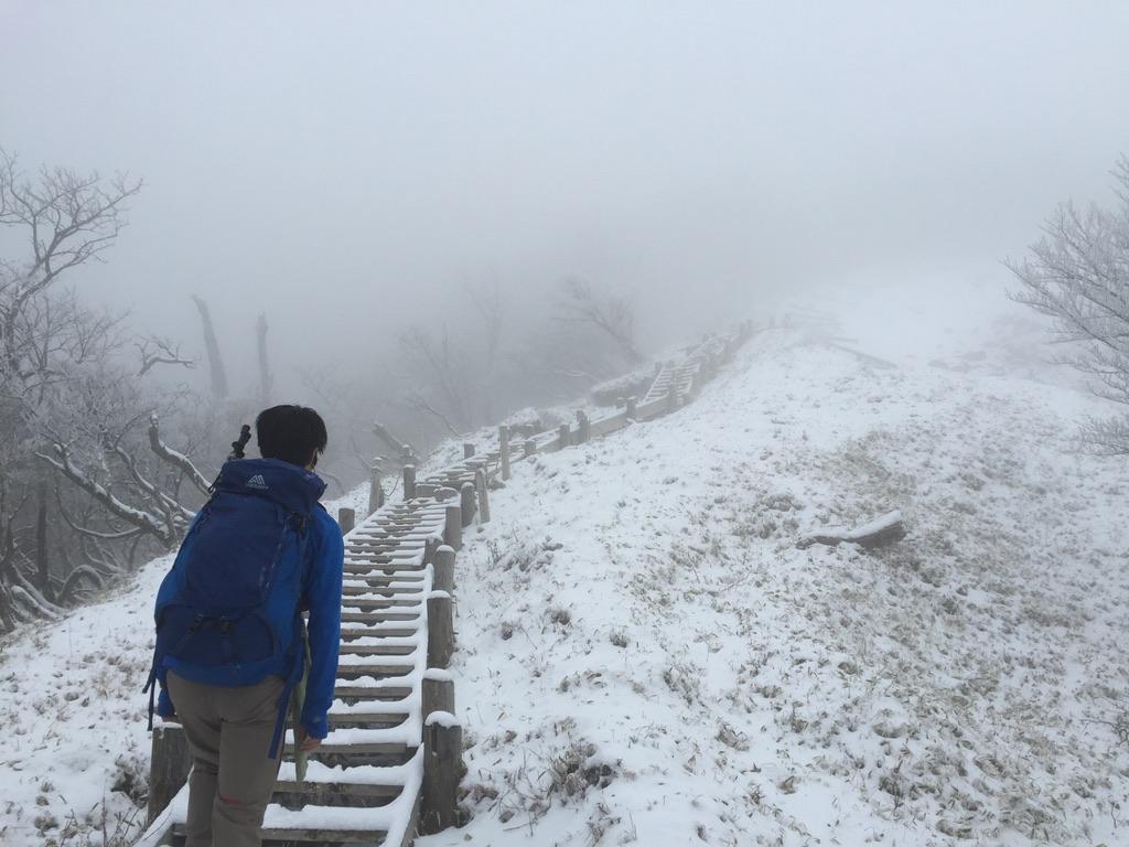 蛭ヶ岳・木道の先は見えません