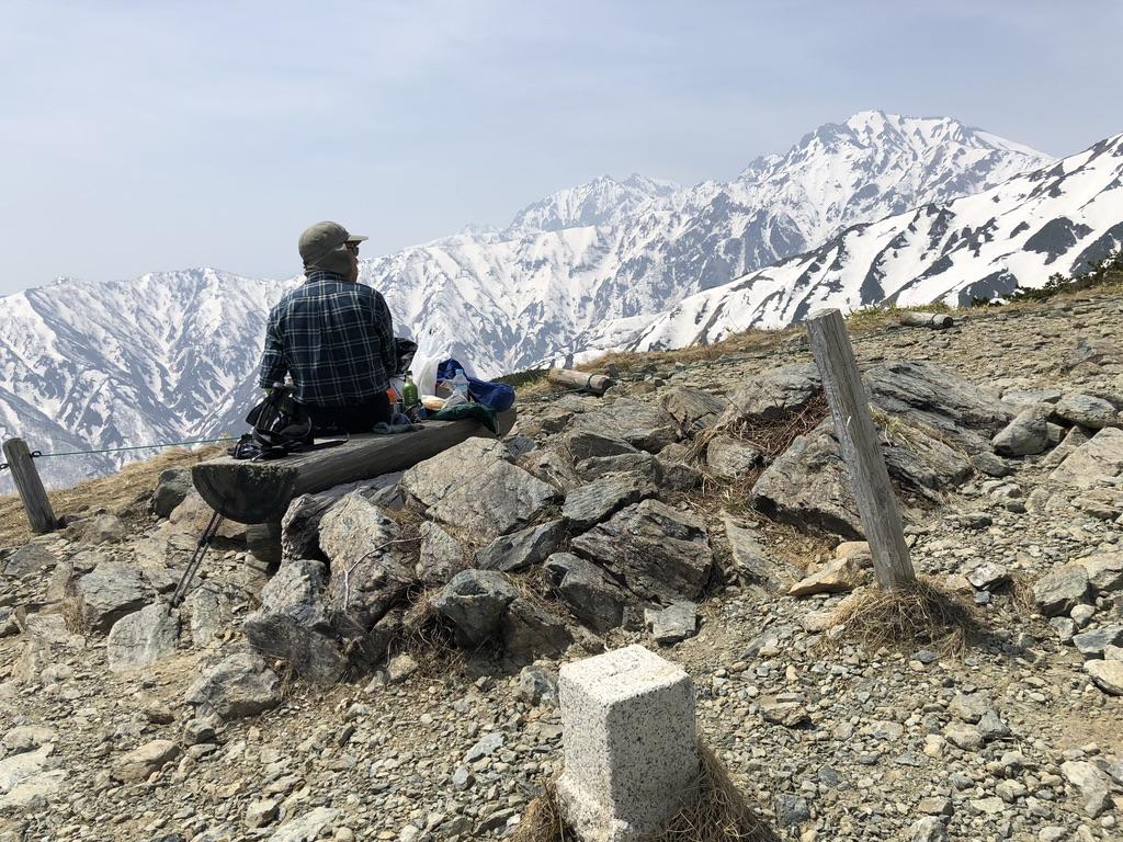 唐松岳・八方尾根・八方山ケルンからの五竜岳と鹿島槍ヶ岳