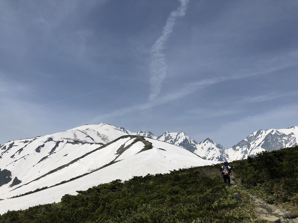 唐松岳・八方尾根・八方山ケルンから第2ケルンへ