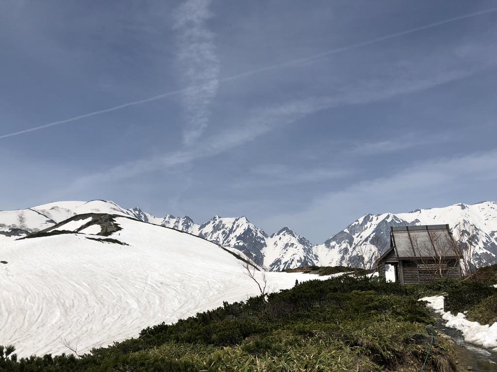 唐松岳・八方尾根・八方山ケルンから第2ケルンの間のトイレ