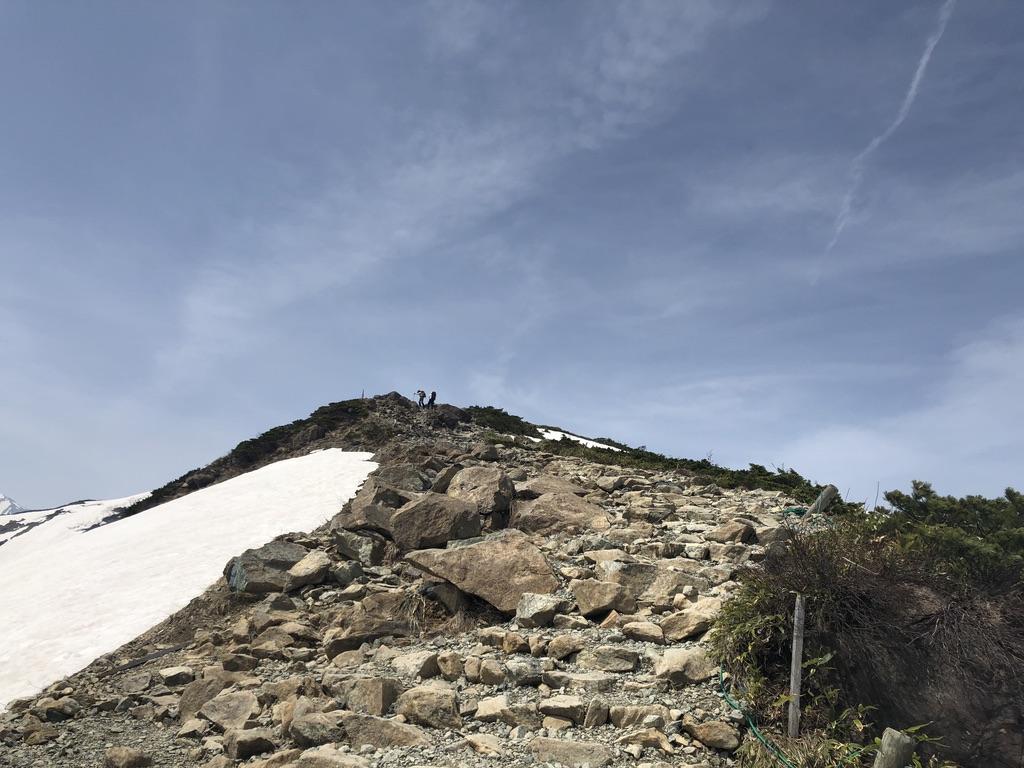 唐松岳・八方尾根・八方ケルンから第3ケルンへ