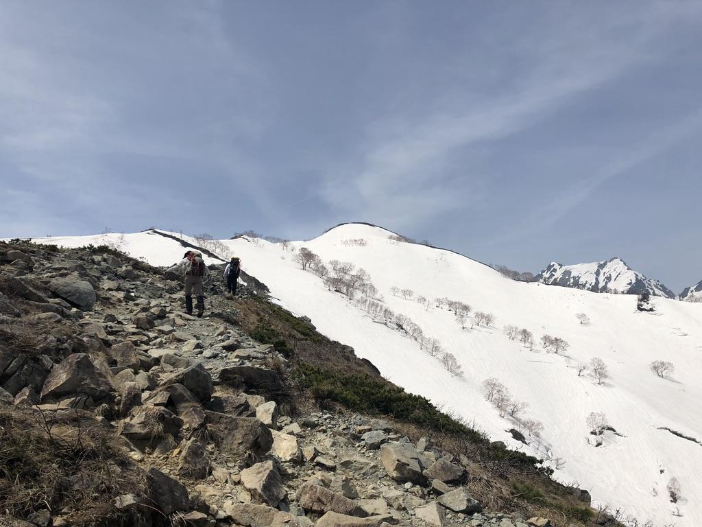 唐松岳・八方尾根・第3ケルンから丸山へ