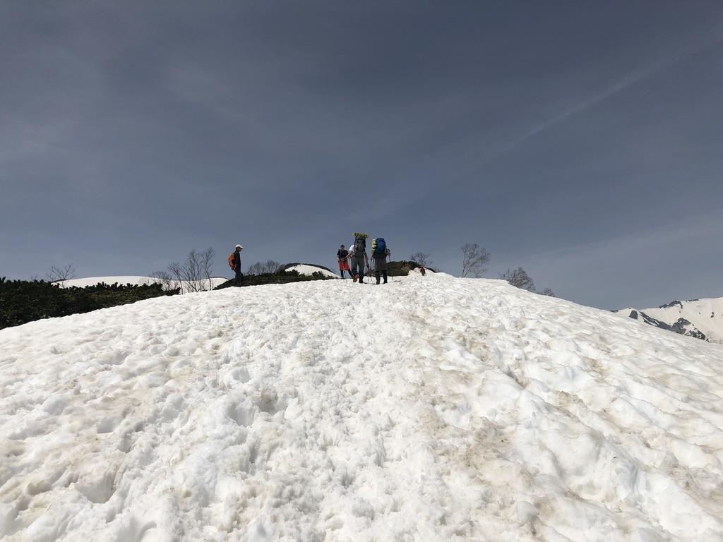 唐松岳・八方尾根・丸山への道、結構坂がキツイです