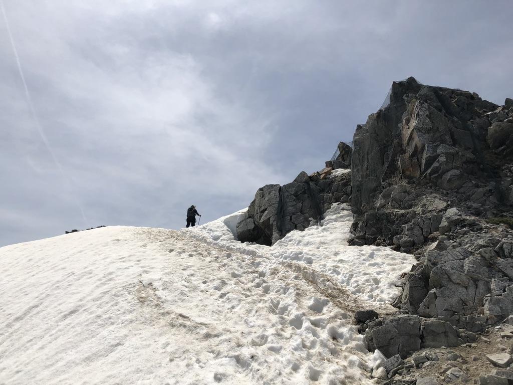 唐松岳・八方尾根・再びの雪道