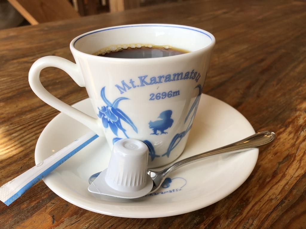 唐松岳・唐松岳頂上山荘のコーヒー