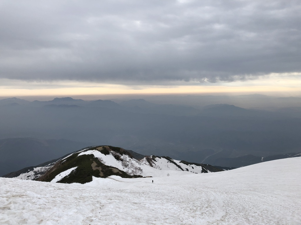 唐松岳・八方尾根・丸山を下る