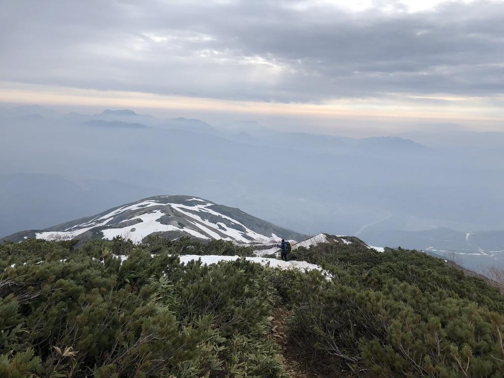 唐松岳・八方尾根・オジサンにだいぶ近づいた