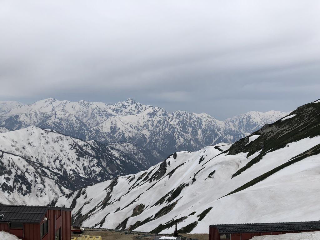 唐松岳・立山、剱岳と唐松岳頂上山荘