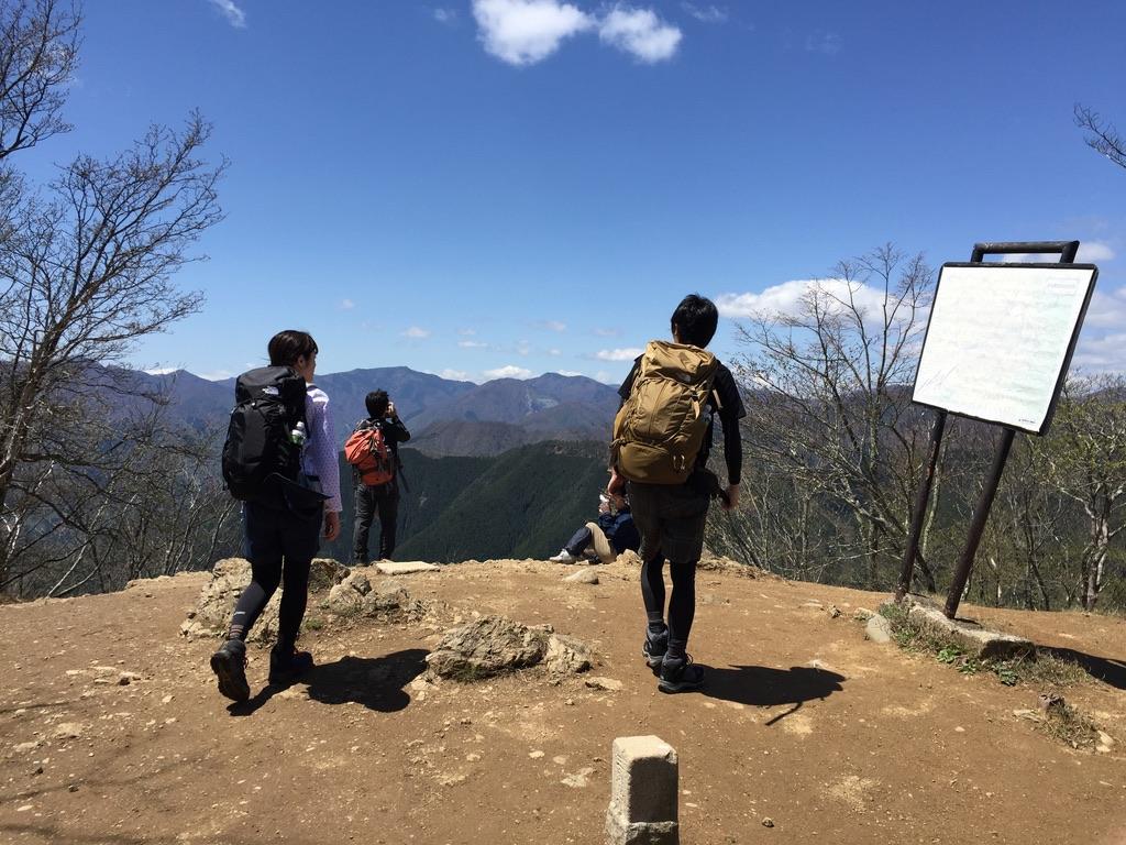川苔山・雲取山・川苔山山頂からの鷹ノ巣山、雲取山、芋ノ木ドッケ