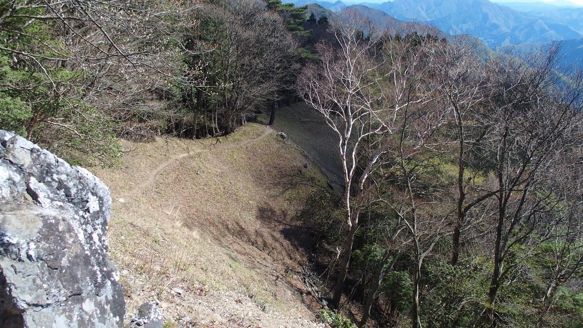 川苔山・雲取山・日向沢ノ峰の山頂へと続く道