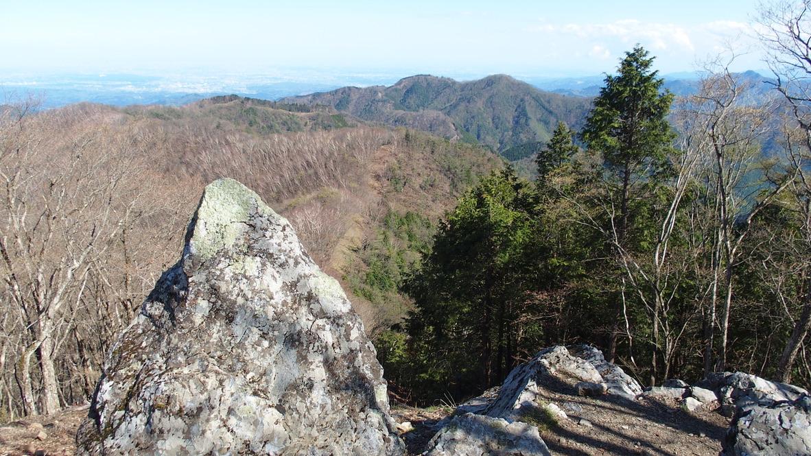 川苔山・雲取山・蕎麦粒山山頂からの景色