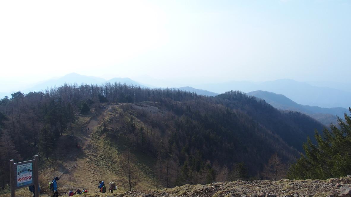 川苔山・雲取山・雲取山山頂からの景色