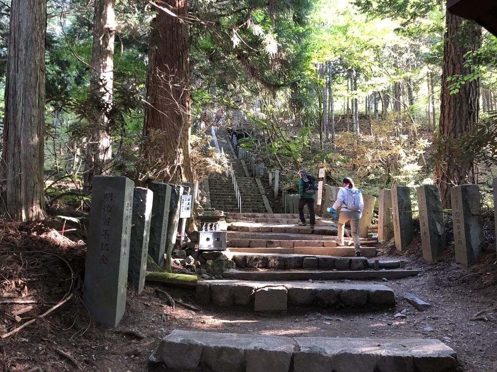 日光男体山・一合目までは石の階段