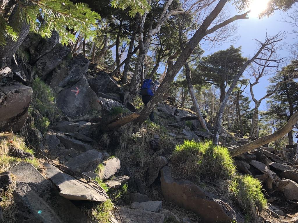 日光男体山・鳥居過ぎても岩場でした