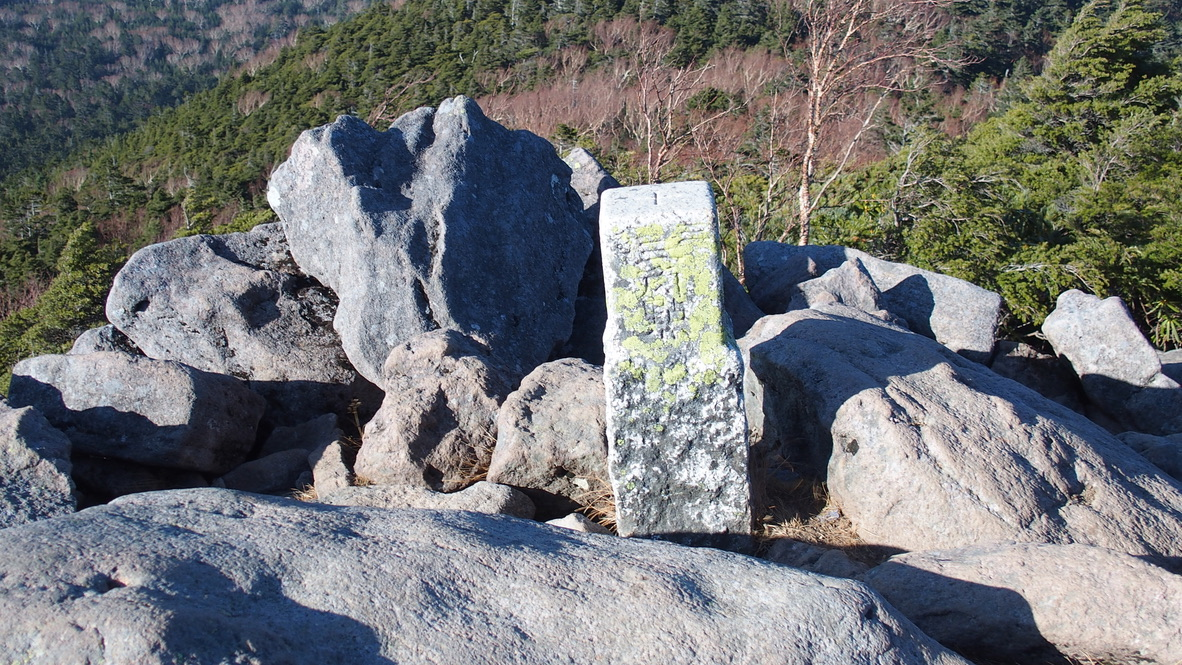 天狗岳(東天狗、西天狗)・ニュウ山頂