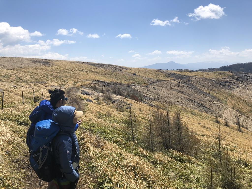 美ヶ原・アルプス展望コース・北八ヶ岳、蓼科山を望む