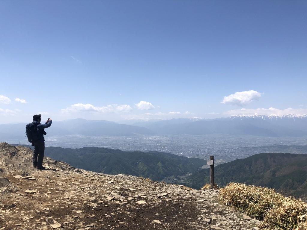 美ヶ原・王ヶ鼻からの北アルプスの山々