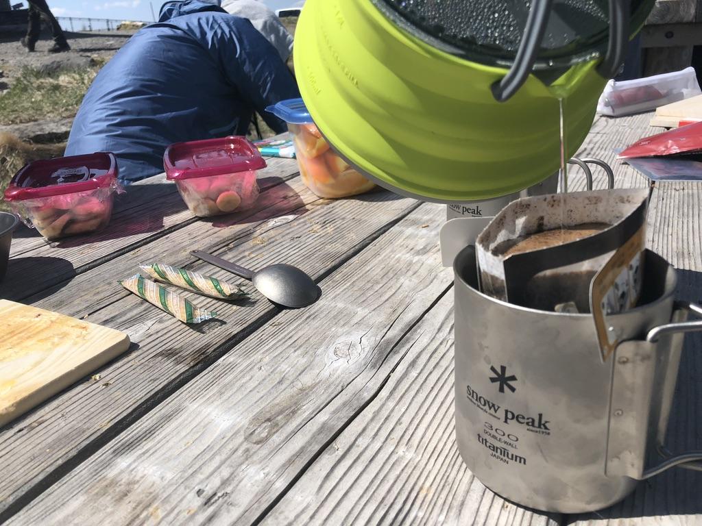 美ヶ原・王ヶ頭・食後はやっぱりコーヒーです