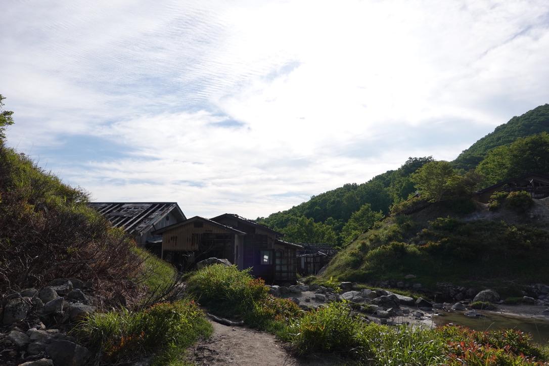 磐梯山・中ノ湯跡の廃墟