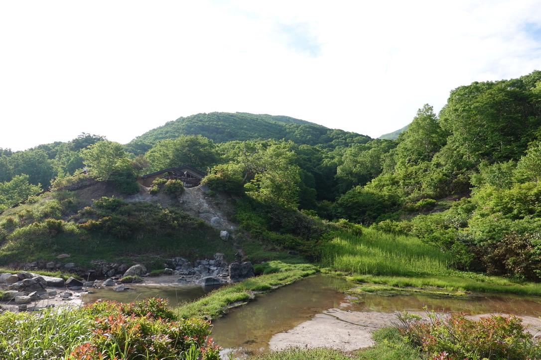 磐梯山・中ノ湯跡の沼