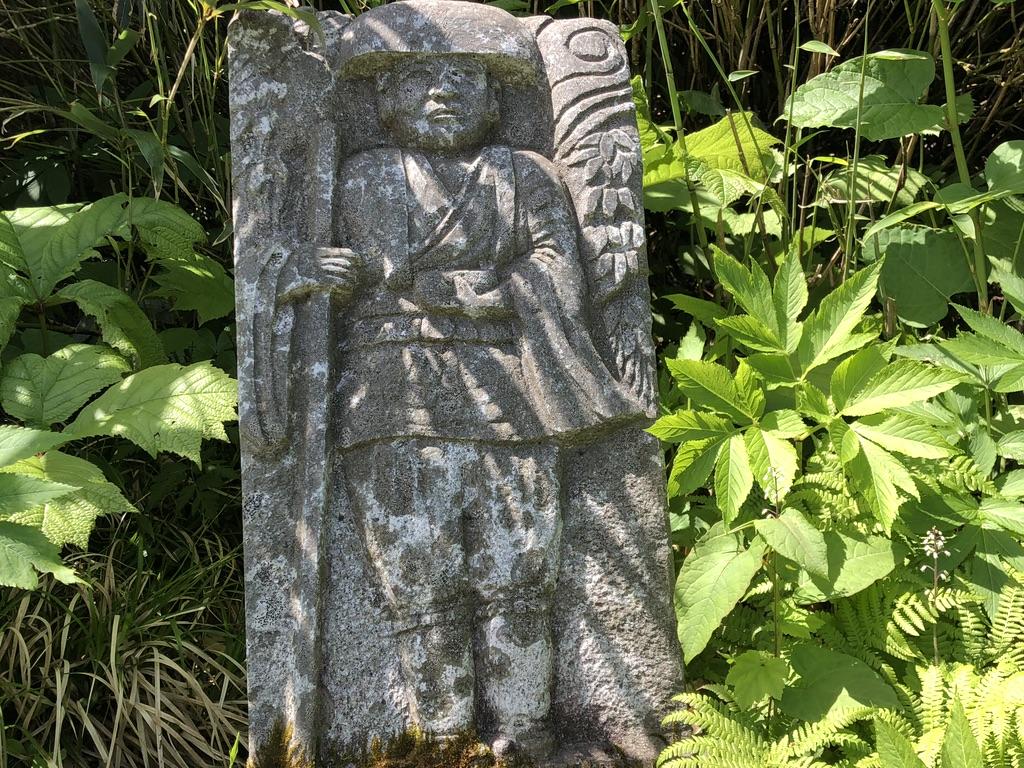 磐梯山・弘法清水(四合目)の弘法大師(空海)の像