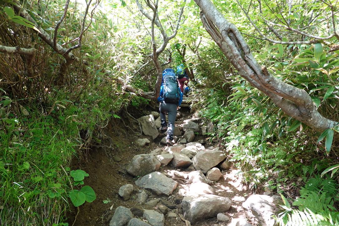 磐梯山・弘法清水からの最後の登り