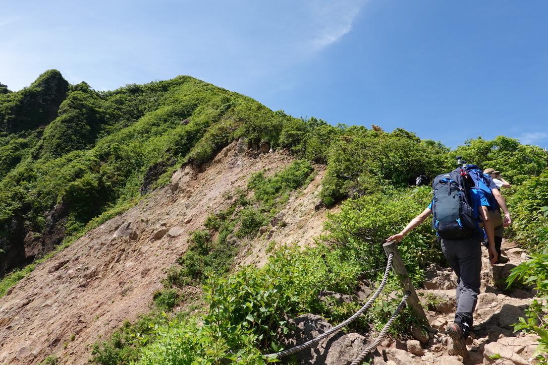 磐梯山・山頂まではあとちょっと