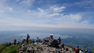磐梯山山頂からの猪苗代湖