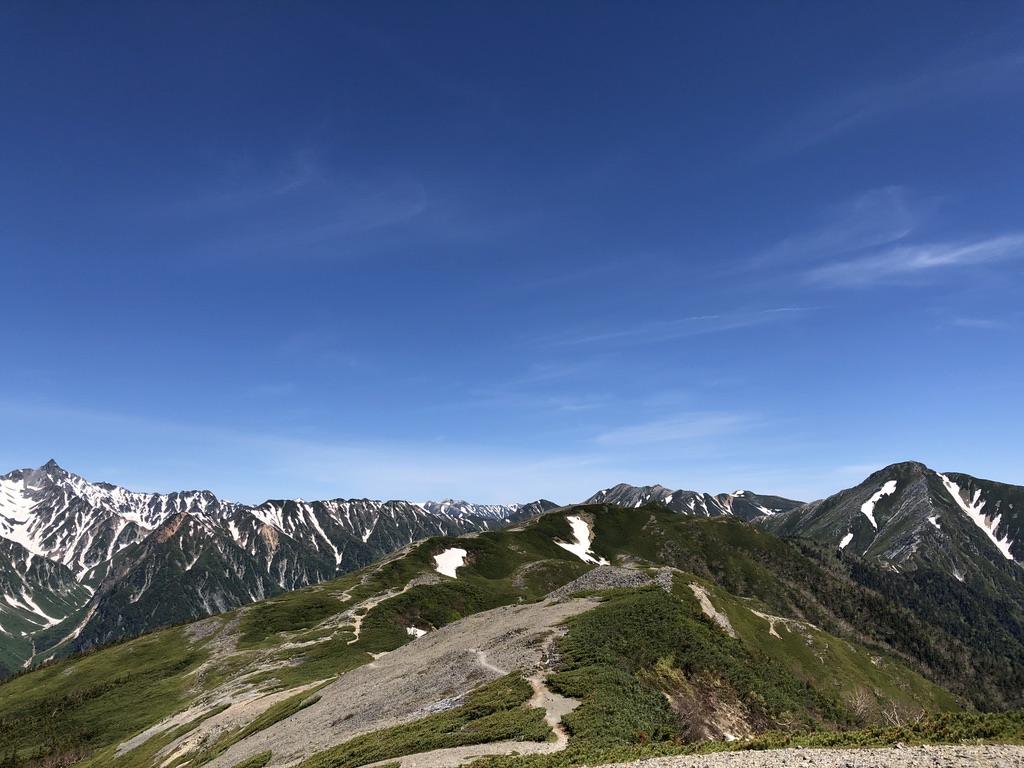 蝶ヶ岳・常念岳・瞑想の丘から蝶槍へ
