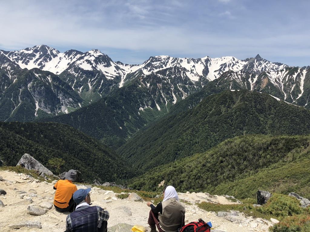 蝶ヶ岳・常念岳・常念岳からの穂高連峰と槍ヶ岳