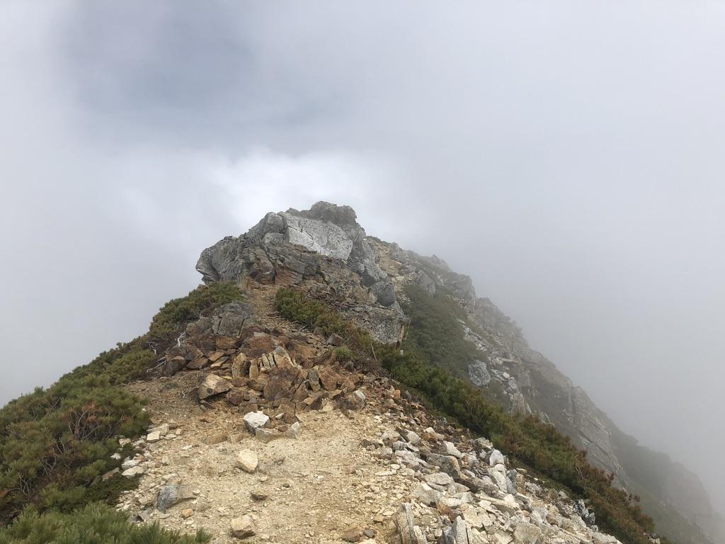 蝶ヶ岳・常念岳・常念岳から前常念岳へ至る岩稜