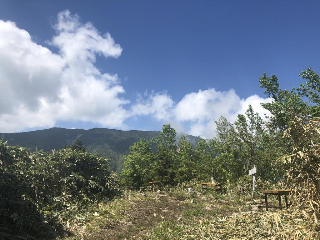 恵那山・大判山山頂からの恵那山