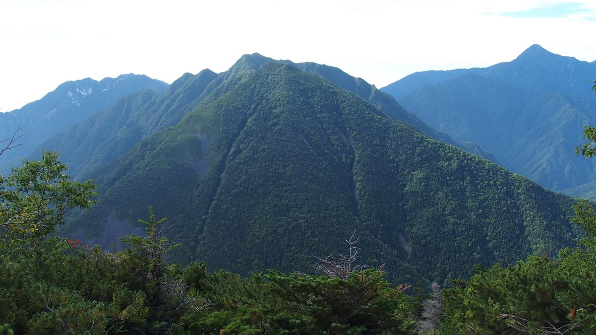 甲斐駒ヶ岳・双児山からの南アルプスの山々