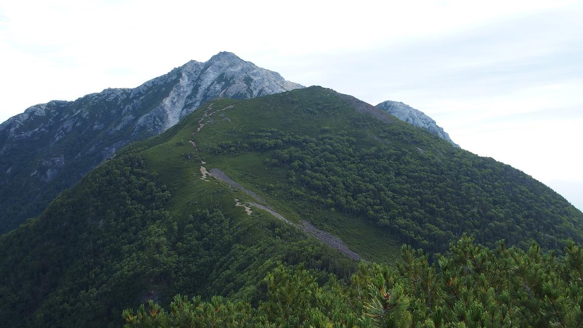 甲斐駒ヶ岳・双児山からの甲斐駒ヶ岳、 駒津峰、摩利支天