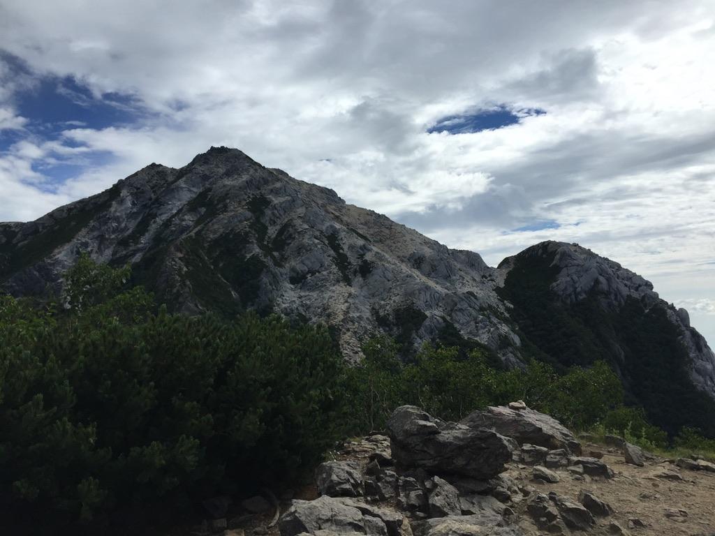 甲斐駒ヶ岳・駒津峰からの甲斐駒ヶ岳、摩利支天