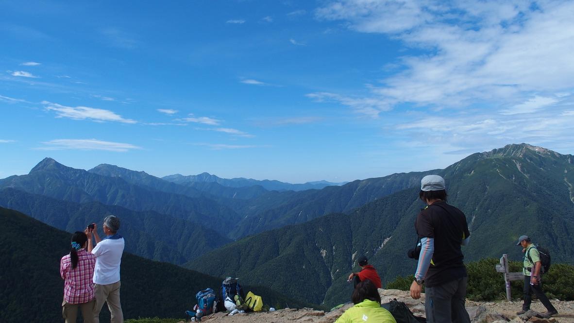 甲斐駒ヶ岳・駒津峰からの北岳、間ノ岳、塩見岳、仙丈ヶ岳
