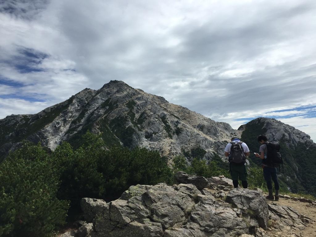 甲斐駒ヶ岳・駒津峰から山頂へ