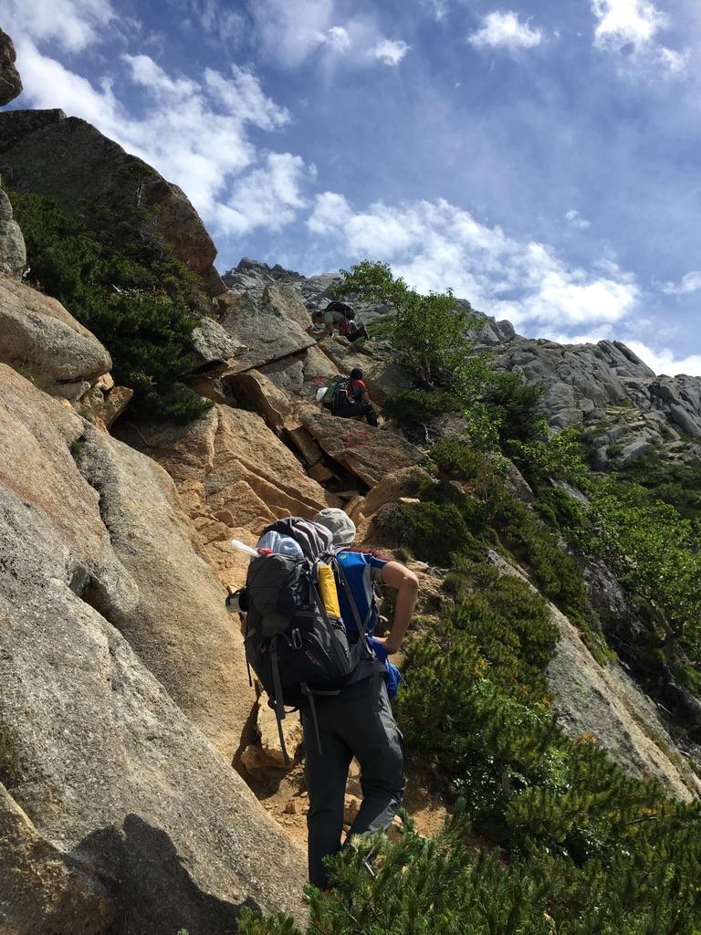 甲斐駒ヶ岳・岩稜直登コース、その1